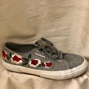 Superga 2750 Floral Embroidered Sneakers